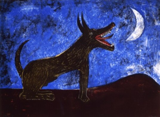 tamayo perro de luna