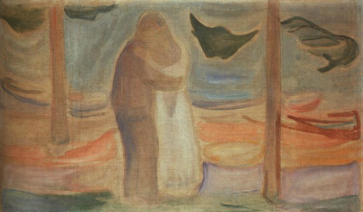 1907 pareja en la costa